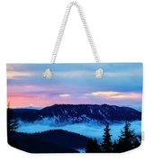 Fiery Sunrise From Mt. Hood Weekender Tote Bag