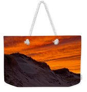 Fiery Sunset Over The Dunes Weekender Tote Bag