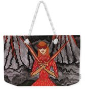Fiery Two Of Swords Illustrated Weekender Tote Bag