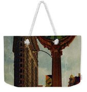 Fifth Avenue Clock And The Flatiron Building Weekender Tote Bag