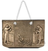 Fiftieth Anniversary Of The Christofle Company, 1842-1892 [reverse] Weekender Tote Bag