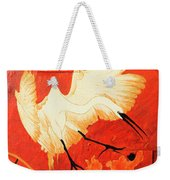 Fighting Crane 1  Weekender Tote Bag