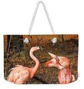 Fighting Flamingos Weekender Tote Bag
