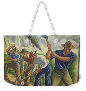 Fighting Forest Fire Weekender Tote Bag