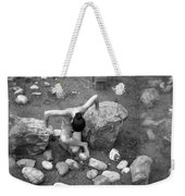 Figurative Holga Tryptich 3 Weekender Tote Bag by Catherine Sobredo