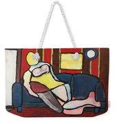 Figure On Couch Weekender Tote Bag