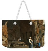 Figures At The Cave Of Egeria Weekender Tote Bag
