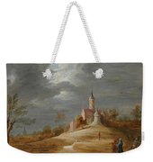 Figures In A Landscape With A Castle Beyond Weekender Tote Bag