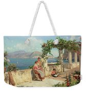 Figures On A Terrace In Capri  Weekender Tote Bag