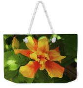 Fijian Hibiscus Abstract In Del Mar 1 Weekender Tote Bag