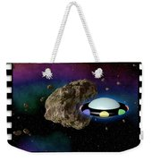 Film Frame With Asteroid And Ufo Weekender Tote Bag