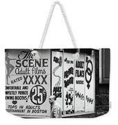 Film Homage Hard Core 1979 Porn Theater The Combat Zone Boston Massachusetts 197 Weekender Tote Bag