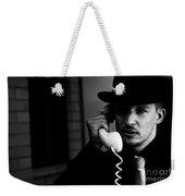 Film Noir Detective On Telephone Weekender Tote Bag