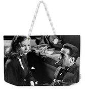 Film Noir Publicity Photo #2 Bogart And Bacall The Big Sleep 1945-46 Weekender Tote Bag