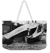 Fin Whale 69 Feet Long At Fields Landing Whaling Station Circa 1945 Weekender Tote Bag