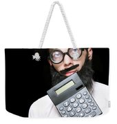 Financial And Accounting Genius With Calculator Weekender Tote Bag