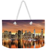 Financial District Sunset Weekender Tote Bag