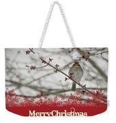 Finch Christmas Weekender Tote Bag