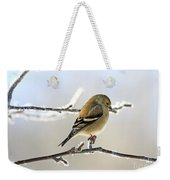 Finch On Frosty Perch Weekender Tote Bag