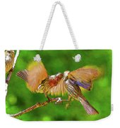 Finches In Motion I  Weekender Tote Bag