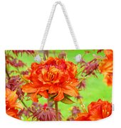 Fine Art Floral Art Prints Canvas Orange Rhodies Baslee Troutman Weekender Tote Bag