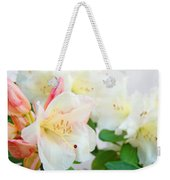Fine Art Florals Prints White Pink Rhodies Rhododendrons Baslee Troutman Weekender Tote Bag