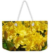 Fine Art Prints Yellow Rhodies Floral Garden Baslee Troutman Weekender Tote Bag