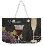 Fine French Wines - Vins Beaux Parisiens Weekender Tote Bag
