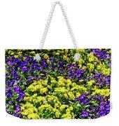 Fine Wine Cafe Colorful Garden Weekender Tote Bag