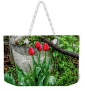 Fine Wine Cafe Red Tulips Weekender Tote Bag