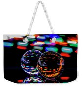 Finger Light Painted Glass Ball Abstract Weekender Tote Bag