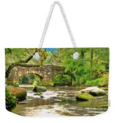 Fingle Bridge - P4a16013 Weekender Tote Bag