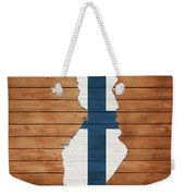 Finland Rustic Map On Wood Weekender Tote Bag