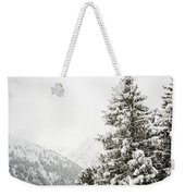 Fir Trees And Mountains Weekender Tote Bag