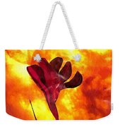 Fire And Flower Weekender Tote Bag