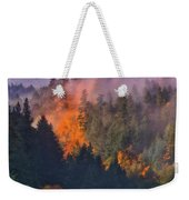 Fire And Smoke Weekender Tote Bag