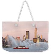 Fire Boat And Manhattan Skyline I Weekender Tote Bag