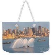 Fire Boat And Manhattan Skyline Iv Weekender Tote Bag