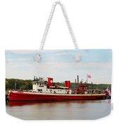 Fire Boat Weekender Tote Bag