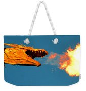 Fire Breathing Dragon Pano Work Weekender Tote Bag