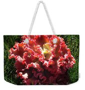 Fire Color Succulent. Curly Plant, Exotic Weekender Tote Bag