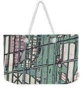 Fire Escape Reflection Weekender Tote Bag