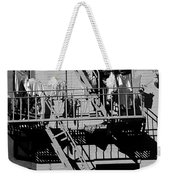 Fire Escape With Clothes Hung To Dry Weekender Tote Bag