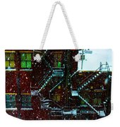 Fire Escapes In The Snow Weekender Tote Bag