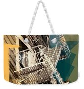 Fire Escapes In White And Gold Weekender Tote Bag