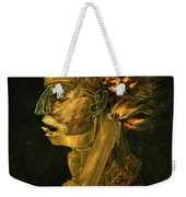 Fire Weekender Tote Bag by Giuseppe Arcimboldo