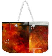 Fire Hazard Original Madart Painting Weekender Tote Bag