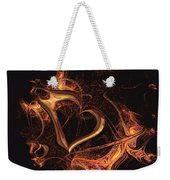 Fire Heart Weekender Tote Bag