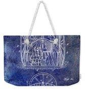 Fire Hose Cart Patent Blue Weekender Tote Bag