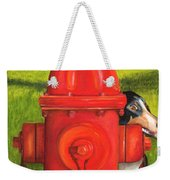 Fire Hydrant Dog Weekender Tote Bag